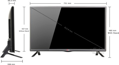 pictures of lg 32lb550a 32 inches 80cm tv tv online india. Black Bedroom Furniture Sets. Home Design Ideas